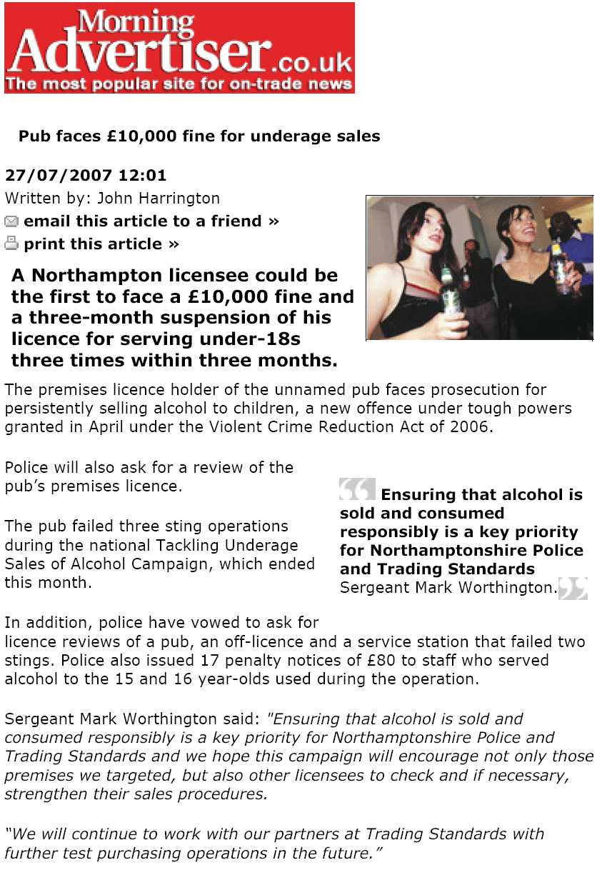 Licensee fined