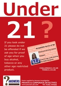 Free Think 21! Posters and POS material - call 01483 423900